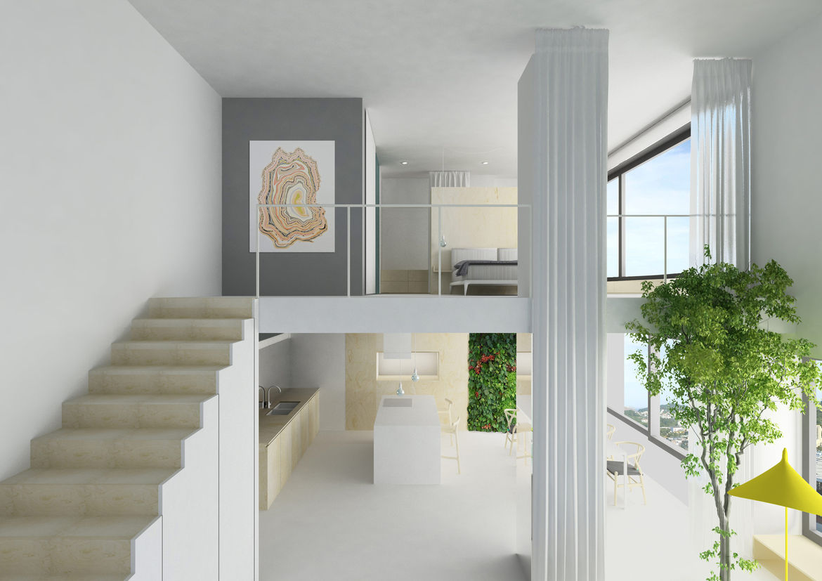 A two-story apartment by Joa Herrenknecht.