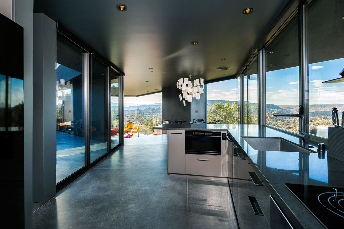 Kitchen in the Yucca Valley house