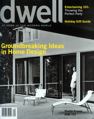 dwell cover 2004 december groundbreaking ideas in home design