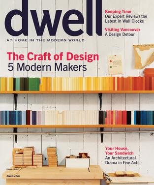 dwell cover 2007 february the craft of design