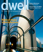 dwell cover 2006 july august radical ideas in architecture