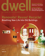 dwell cover 2007 april renovate reuse recycle