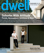 dwell cover 2008 december january suburbs with attitude