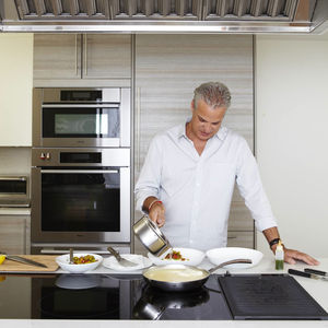 Chef Eric Ripert making Cod Basquaise