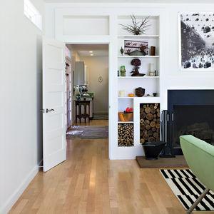 ewing residence living room hallway