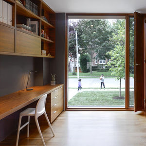 counterpoint house walnut desks study eames chair