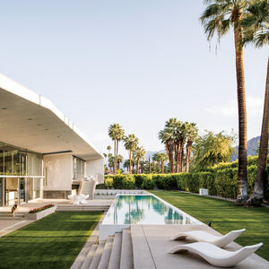 passive cool prefab palm springs pool facade patio