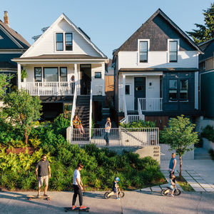 past perfect vancouver multi family edwardian home renovation street facing facade slavaged siding