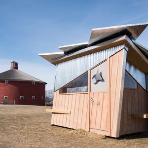 Ice shanty by Peregrine Design/Build
