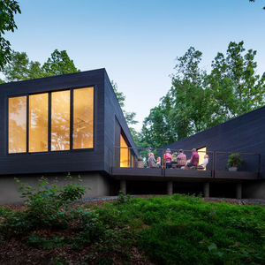 thicker than water virginia riverside retreat facade outdoor