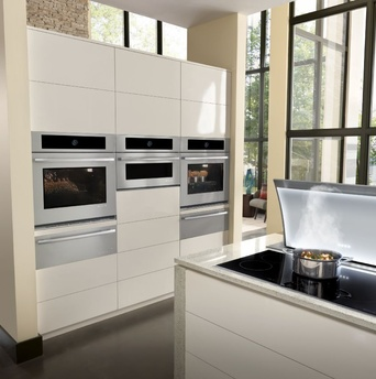 Jenn-Air appliances in white kitchen