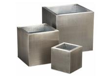 CB2 galvanized planters