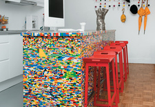 Modern kitchen ideas using legos as the medium