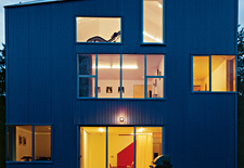 Architect Ko Wibowo created a steel-clad residence for his family in Puyallup, Washington.
