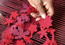 "<h2><a href=""http://www.dwell.com/articles/little-field-of-flowers.html "">Little Field of Flowers</a></h2><p></p>Take a passage to India with Barcelona-based rug designer Nani Marquina as weavers transform a Tord Boontje sketch by warp and weft into a blo"