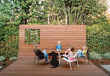 modern backyard deck ipe wood