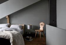 Bedroom of Swiss renovation by Jonathan Tuckney.