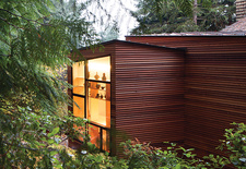 Moder cedar addition in the woods
