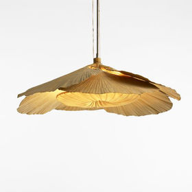 ingo maurer uchiwa fan chandelier wright