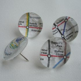 mymiyel London underground pushpins