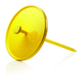 menu pin table yellow