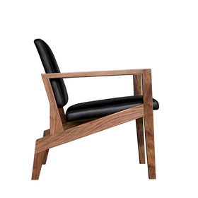 Maxwell Chair of Appalachian wood from Elijah Leed, made in Durham, North Carolina.