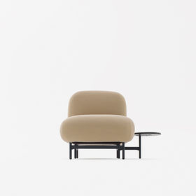 Noular seat with attached coffee table by Luca Nichetto and Nendo