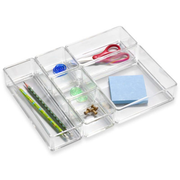 acrylic drawer organizer set container