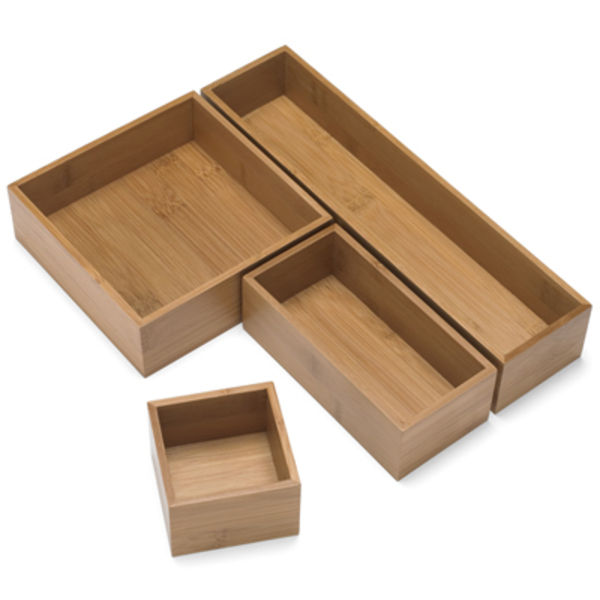bamboo drawer organizer container