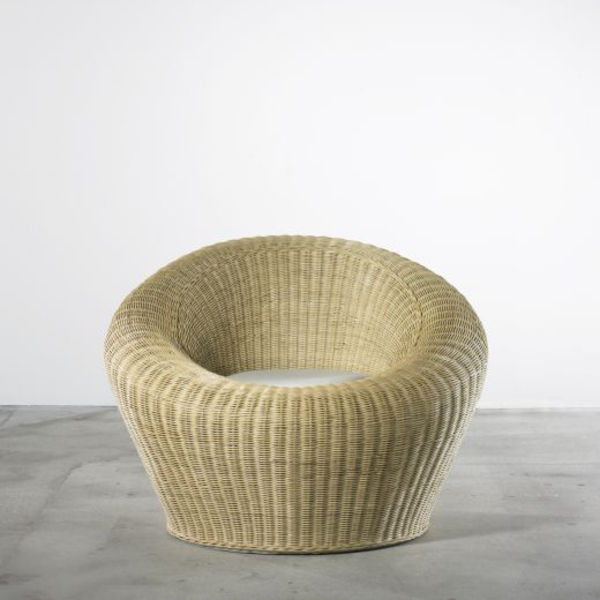isamu kenmochi rattan round chair wright