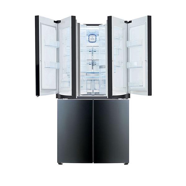 Modern energy efficient kitchen appliances like LG double door-in-door refrigerator