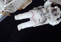 space living astronaut suit portrait