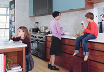 bishop lieberman residence house interior portrait mom kids kitchen