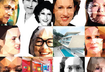 Women of Influence portrait squares