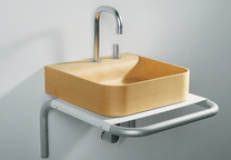 bathrooms aeri sink in birch wood whitehaus collection