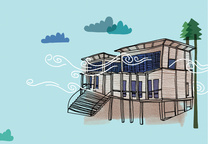 solar 101 house illustration blue  1