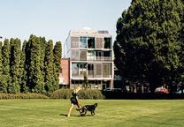 modern multiunit prefab exterior landscape