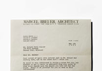 marcel breuer architect letter office kansas city snower house