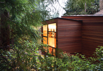 Moder cedar addition in the woods