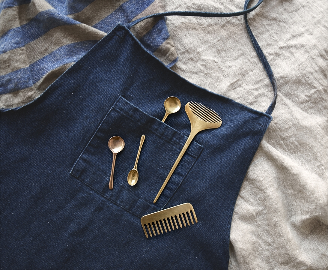 Solid brass spoons and combs by The Things We Keep, from $88