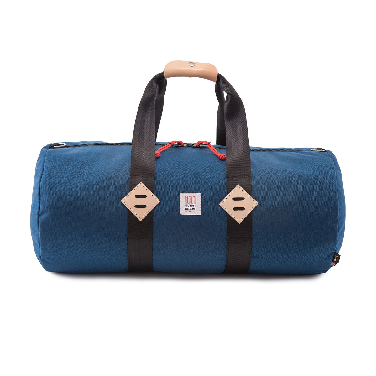 Classic duffle bag with leather details