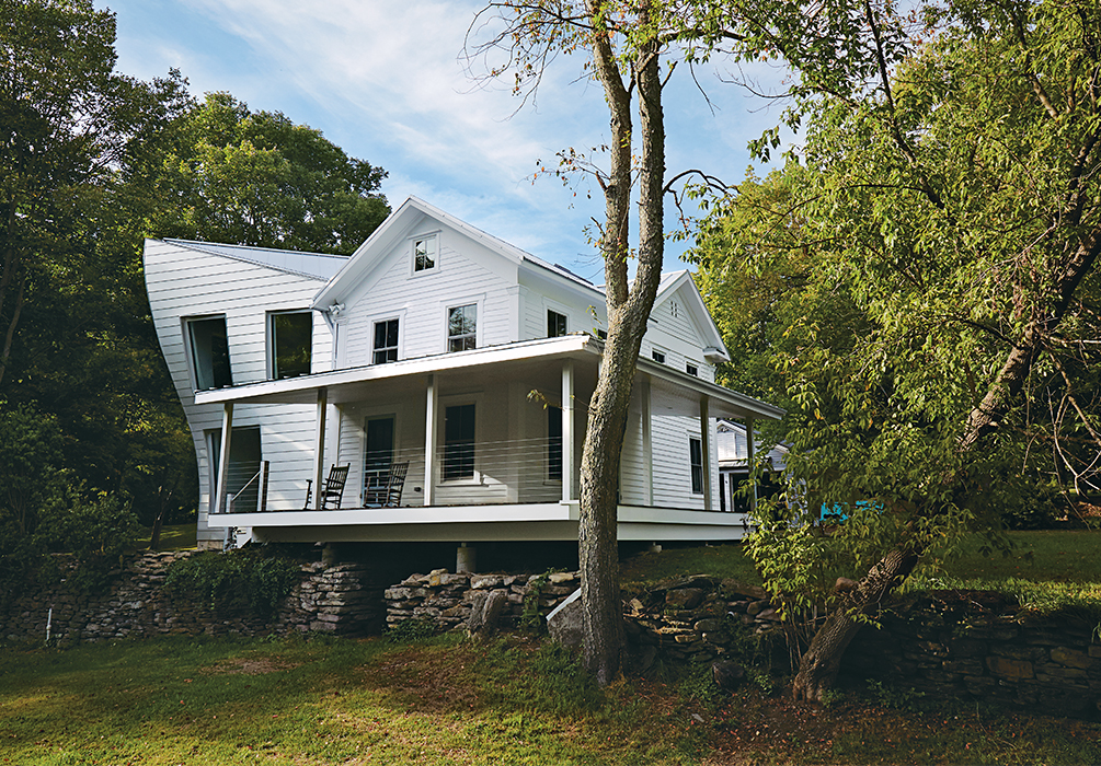 Twisted Farmhouse designed by Tom Givone in Falls, Pennsylvania