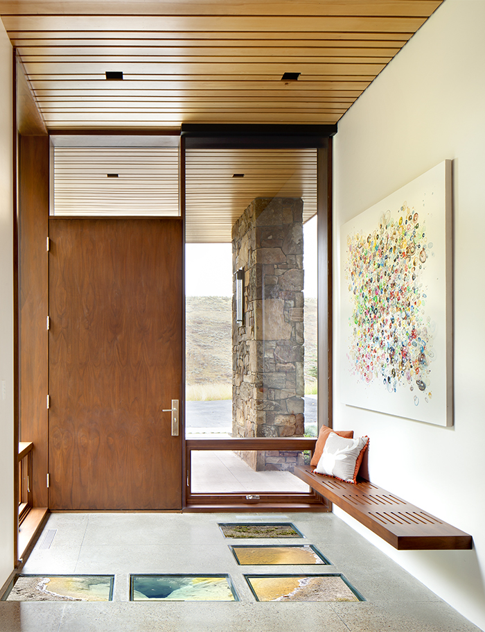 Entryway of a Jackson Hole vacation home
