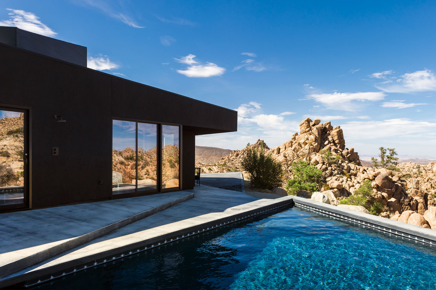 View from the pool at the Yucca Valley house